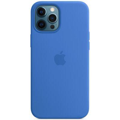 image Apple Coque en Silicone avec MagSafe (pour iPhone 12 Pro Max) - Bleu Capri