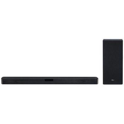 image LG SL5Y Haut-Parleur soundbar 2.1 canaux 400 W Noir - Haut-parleurs soundbar (2.1 canaux, 400 W, DTS Digital Surround,Dolby Digital, 45 W, 220 W, avec Fil &sans Fil) SL5Y.DEUSLLK