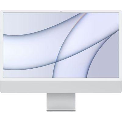 image Apple iMac Retina 24 pouces (2021) - Puce Apple M1 - RAM 8Go - Stockage 256Go - GPU 8 coeurs - 4 Ports USB - Argent