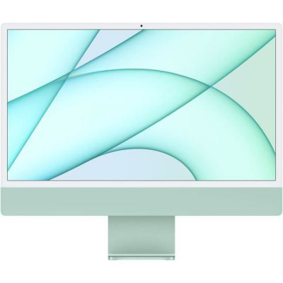 image Apple iMac Retina 24 pouces (2021) - Puce Apple M1 - RAM 8Go - Stockage 512Go - GPU 8 coeurs - 4 Ports USB - Vert (MGPJ3FN/A)
