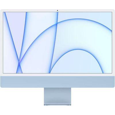 image Apple iMac Retina 24 pouces (2021) - Puce Apple M1 - RAM 8Go - Stockage 256Go - GPU 7 coeurs - Bleu (MJV93FN/A)