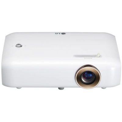 """image LG CineBeam Portable Vidéoprojecteur LED PH550G Compact 550 lumen, HD 720p, projection entre 25""""~100"""" Bluetooth et haut-parleurs intégrés, lecture fichiers Microsoft Office et HD Divx via USB"""