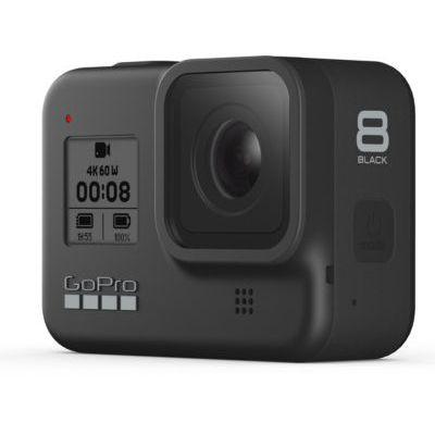 image GoPro HERO8 Black - Caméra d'action numérique 4K à l'épreuve de l'eau, système à écran Tactile et contrôle Vocal hypersmooth & Étui de Transport pour GoPro TailleS