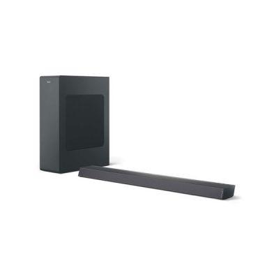 image Philips Audio B6305/10 Barre de Son TV Bluetooth avec Caisson de Basse sans Fil (2.1 Canaux, 140 W, Dolby Audio, HDMI Arc, Design Ultra-Fin avec Support de Fixation Murale) Noir - Modèle 2020/2021