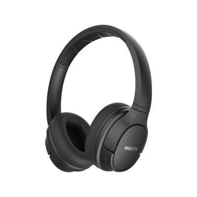 image Philips SH402BK/00 Casque Sport Bluetooth, Casque Supra-Auriculaires (Réduction du Bruit et de L'écho, IPX4, Haut-parleurs 40 mm Driver, Coques Aérées, 20 Heures de Lecture) Noir