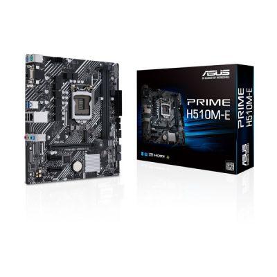 image ASUS PRIME H510M-E Carte mère Intel H510 LGA 1200 mATX (PCIe 4.0, M.2 slot, Ethernet Intel 1 Gb, DisplayPort, HDMI, D-Sub, USB 3.2 Gen 1 Type A, SATA 6 Gbs, connecteur COM et RGB)