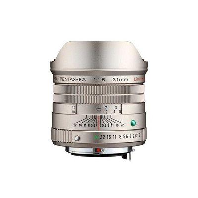image Objectif grand angle HD PENTAX-FA 31 mm F1.8 - Argent limité - Revêtement HD haute performance - Revêtement SP - Diaphragme rond - Corps en aluminium usiné