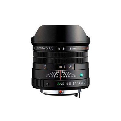 image Lentille HD PENTAX-FA 31 mmF1.8 Limited Black Limited, objectif grand angle, revêtement HD haute performance, revêtement SP, diaphragme rond, corps en aluminium usiné