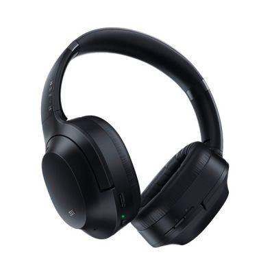image Razer Opus - Casque sans Fil ANC à Suppression Active du Bruit, réglage Audio THX, Batterie 25 h, Compatible avec Les Prises Bluetooth 5.0 et 3,5 mm, Lecture Automatique/Pause Automatique - Noir