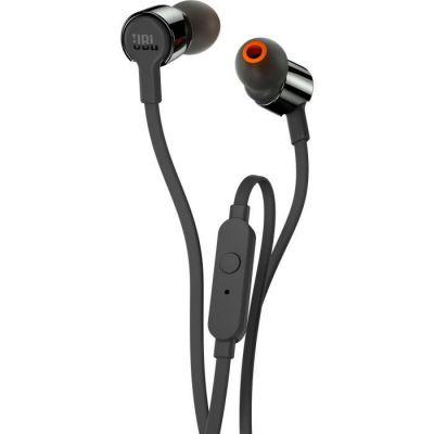 image JBL T210 Ecouteurs intra-auriculaires avec Bouton de Commande/Microphone Noir