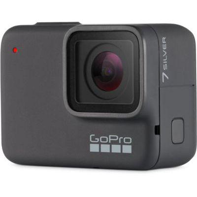 image produit GoPro Hero 7 Silver - Caméra d'action numérique HD 4K, 10 MP Argent & AFHGM-002 Poignée Flottante Noir - livrable en France