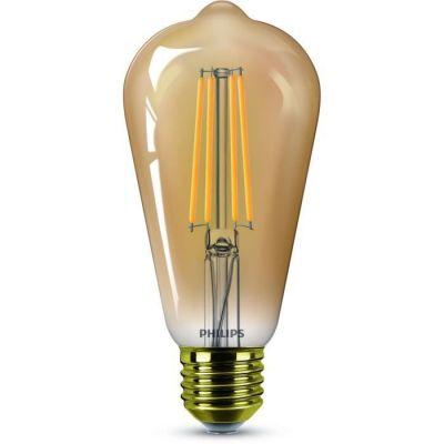 image PHILIPS LED Classic 50W Standard Edison Vintage Filament E27 Claire Ambrée Blanc Chaud Compatible Variateur