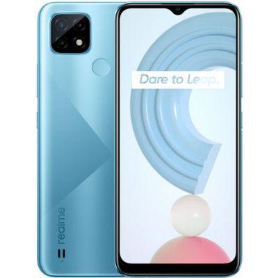 image realme C21 Telephone Portable, Smartphone Debloqué et Batterie massive de 5000mAh, Plein écran Mini-drop 6,5pouces, Processeur puissant HelioG35, Dual Sim,3+32GB, Cross Blue