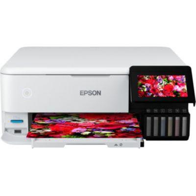 image Epson EcoTank ET-8500 Imprimante Multifonction 3 en 1 pour Copie, Scan, Impression, A4, 5 Couleurs, Impression Photo, Recto-Verso, WiFi, Ethernet, écran, USB 2.0, réservoir d'encre