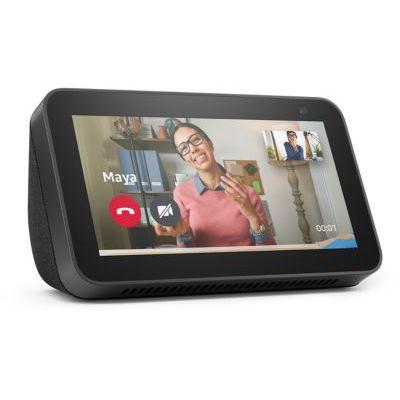 image Echo Show 5 (2e gén., modèle 2021) | Écran connecté avec Alexa et caméra 2 Mpx - Anthracite