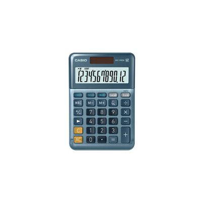 image Casio MS120EM Calculatrice de Bureau Alimenté par Batterie solaire Bleu
