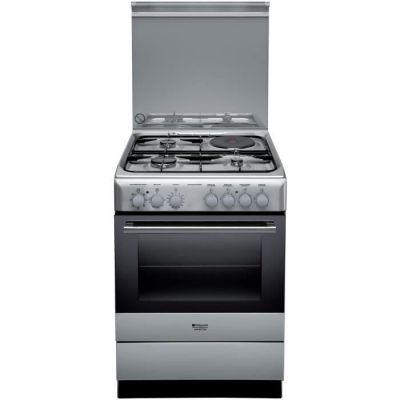 image HOTPOINT H6M6C2AG(X)/FR - Cuisinière table mixte gaz + induction - 4 zones de cuisson - 60 cm - Inox