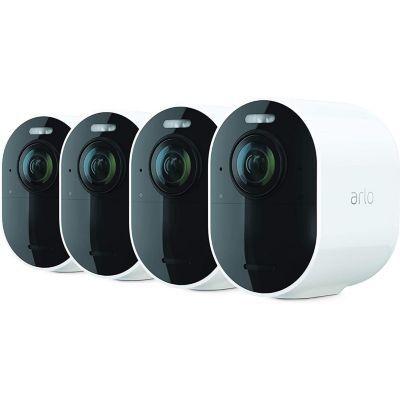 image Arlo Ultra 2 Spotlight camera de surveillance Wifi, Sans fil, vidéo 4K et HDR, Vision nocturne, audio bidirectionnel, Batterie de 6 mois, détection de mouvement, champ de vision à 180°, VMS5440
