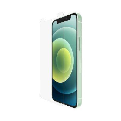 image Belkin Protection d'écran antimicrobienne TemperedGlass pour iPhone 12 Pro / iPhone 12 (protection avancée, réduction de la prolifération des bactéries jusqu'à 99 %)
