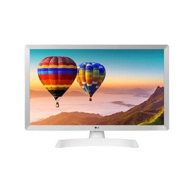"image LG - 28TN515S- WZ - Téléviseur-Moniteur Intelligent, 28"", écran LED HD (1366 x 768, 16:9, DVB-T2/C/S2, WiFi, Miracast, 10 W, 2 x HDMI 1.4, 1 USB 2.0, Optique, LAN RJ45, VESA 75 x 75), Blanc"