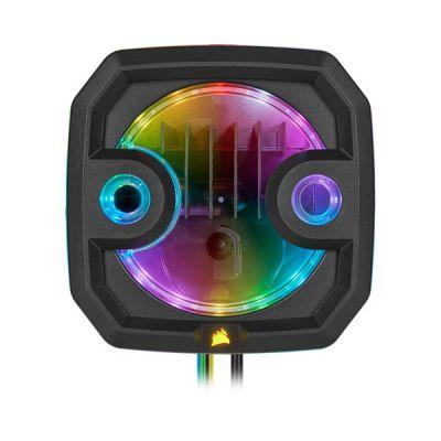 image Corsair Hydro X Series, XD3 RGB Combinaison Pompe/Réservoir (Hautes Performances Xylem DDC PWM Pompe, Contrôlée PWM, Surveillance Température Dans Boucle, Personnalisable Éclairage RGB Intégré) Noir