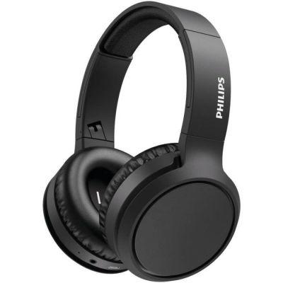 image Philips Audio Casque Bluetooth Sans Fil Supra-Aural avec Microphone et Bouton D'amplification des Basses (29 Heures D'autonomie, Charge Rapide, Isolation Phonique) Noir - Modèle 2020/2021 TAH5205BK/00