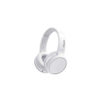 image Philips H5205WT/00 Casque Bluetooth Sans Fil Supra-Aural avec Microphone et Bouton D'amplification des Basses (29 Heures D'autonomie, Charge Rapide, Isolation Phonique) Blanche - Modèle 2020/2021