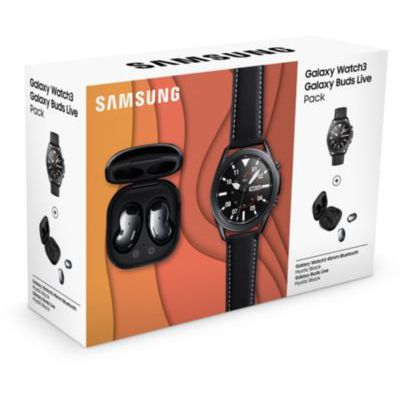 image Montre connectée Samsung Pack Watch 3 Noir 45mm+Buds Lives