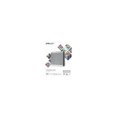 image PNY Pro Elite CS2060 - SSD Externe Portable 500 Go en USB 3.1 Gen2 Type-C - 900 Mo/S - Gris Brush