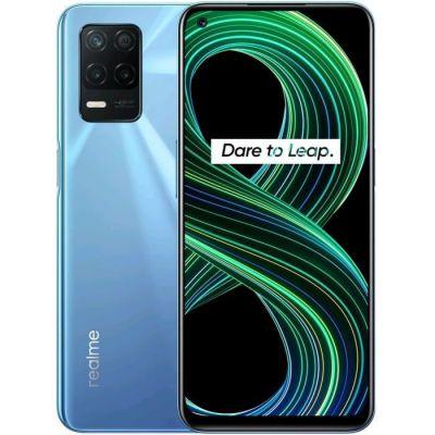 image realme 8 5G Telephone Portable, Smartphone Debloqué et Processeur Dimensity7005G, Écran ultra-fluide de 90Hz, Batterie massive de 5000mAh, Appareil photo Nightscape de 48MP, Dual Sim, NFC, 4+64GB