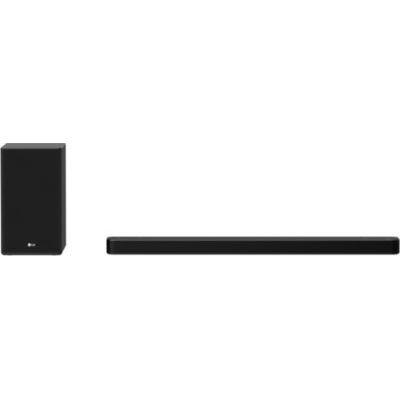 image LG SP8YA Barre de Son TV 440 W 3.1.2 avec Caisson de Basses sans Fil, Bluetooth, Technologie DTS:X, Dolby Atmos, Dolby Digital, Haute résolution, AI Sound Pro, entrée Optique, USB, HDMI in/Out