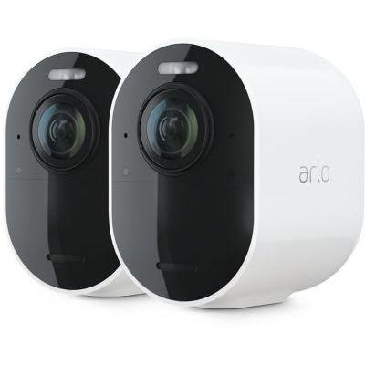 image Arlo Ultra 2 Spotlight camera de surveillance Wifi, Sans fil, vidéo 4K et HDR, Vision nocturne, audio bidirectionnel, Batterie de 6 mois, détection de mouvement, champ de vision à 180°, VMS5240