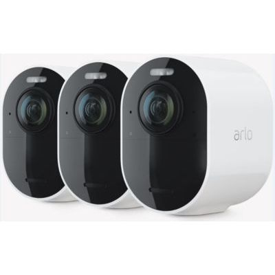 image Arlo Ultra 2 Spotlight camera de surveillance Wifi, Sans fil, vidéo 4K et HDR, Vision nocturne, audio bidirectionnel, Batterie de 6 mois, détection de mouvement, champ de vision à 180°, VMS5340