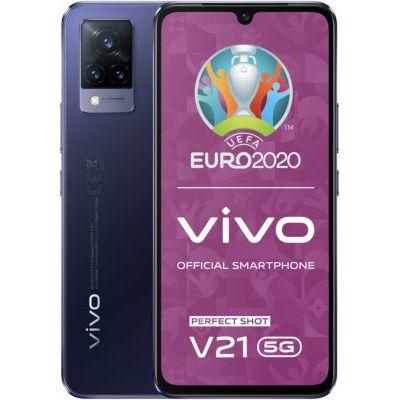 image vivo V21 5G Smartphone, 8 Go + 128 Go, Selfies 44 MP avec Stabilisation Optique, Triple Caméra 64 MP, Taux de Rafraîchissement de 90 Hz, Design Ultra-Fin, 6,44 Pouces, Double SIM (Dusk Blue)