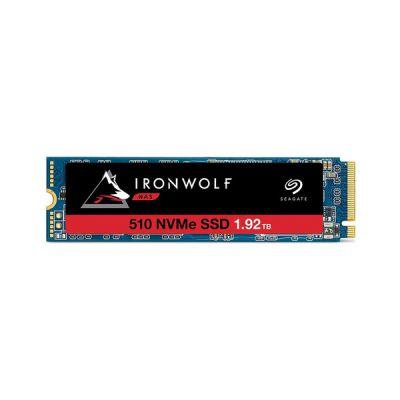 image Seagate IronWolf 510 NAS 1,92 To, SSD interne, M.2 PCIe pour stockage en réseau NAS des systèmes RAID multibaies, services de récupération des données de 2 ans, Ouverture facile (ZA1920NM30001)
