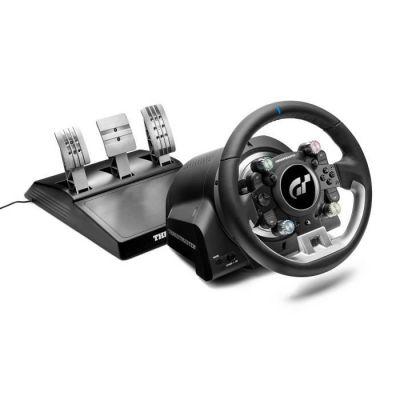 image Thrustmaster T-GT II, volant sous licence officielle PlayStation 5 et Gran Turismo, avec un pédalier 3 pédales (également compatible PS4, PC)