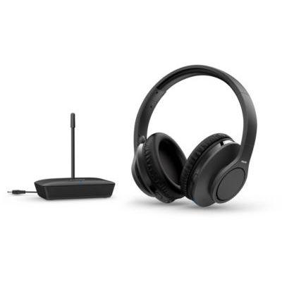 image Philips Audio H6005BK/10 Casque TV Sans Fil Circum-Aural (100 m Portée, 18 Heures D'autonomie, Haut-parleurs de 30 mm, Isolation Phonique Passive, Arceau Réglable) Noir - Modèle 2020/2021 TAH6005BK/10