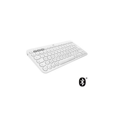 image Logitech K380 Clavier pour Mac + Souris sans Fil M350 - Design Fin et Portable, clics Silencieux, autonomie Longue durée, Bluetooth, Multi-Dispositif avec Easy-Switch - macOS, iPadOS, iOS - Blanc