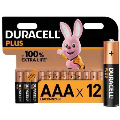 image Duracell - NOUVEAU Piles alcalines AAA Plus, 1.5 V LR03 MN2400, paquet de 12