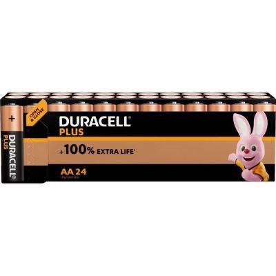 image Duracell - NOUVEAU Piles alcalines AA Plus, 1.5 V LR6 MN1500, paquet de 24