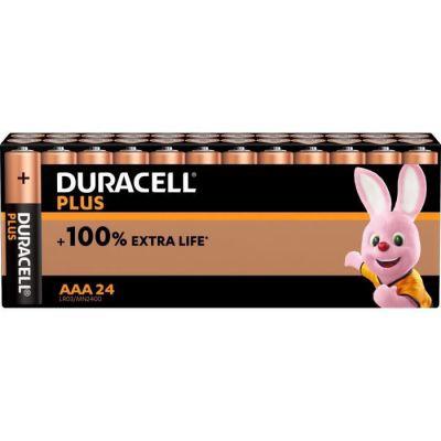 image Duracell - NOUVEAU Piles alcalines AAA Plus, 1.5 V LR03 MN2400, paquet de 24
