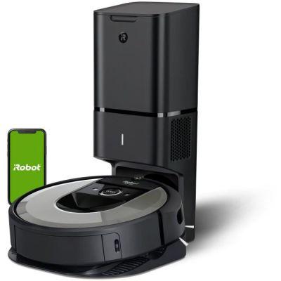 image iRobot Roomba i7+  - Aspirateur robot Connecté - Batterie Lithium-iOn - Autovidage Clean Base - 2 brosses multi-surfaces