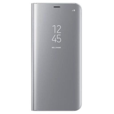 image Samsung Original Etui Coque Support à Rabat Clear View Cover Fonction Stand S8+ Argent