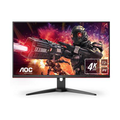 image AOC Écran gaming U28G2AE 71cm (28pouces) (HDMI, DisplayPort, FreeSync, temps de réponse de 1ms, 60Hz, 3840x2160) noir/rouge
