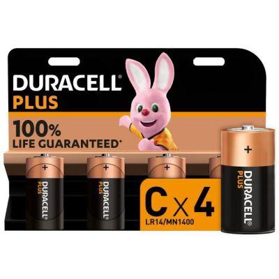 image Duracell - NOUVEAU Piles alcalines C Plus, 1.5 V LR14 MN1400, paquet de 4