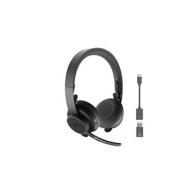 image Logitech Zone 900 Casque Circum-Auriculaire Sans Fil Bluetooth avec micro anti-bruit, peut se connecter jusqu'à 6 appareils sans fil avec récepteur accès rapide à ANC et Bluetooth - Gris