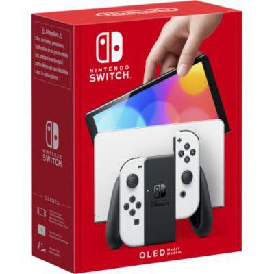 image Console Nintendo Switch (modèle OLED 2021) avec un Joy-Con Blanc