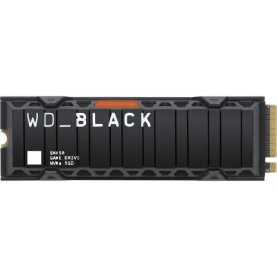 image WD_BLACK SN850 1 To Disque SSD NVMe Interne avec Dissipateur Thermique pour les Jeux; Technologie PCIe Gén. 4, Vitesse de Lecture Jusqu'à 7000Mo/s, M.2 2280, avec Dissipateur