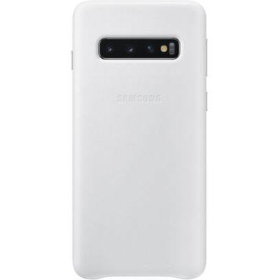 image Samsung Coque en cuir pour Galaxy S10 - Blanc