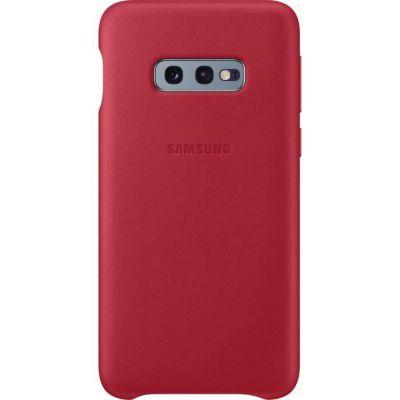image Samsung Coque en cuir pour Galaxy S10e - Rouge bordeaux